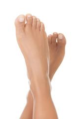 Beautiful woman smooth feet