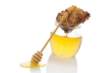 Luxurious honey isolated.