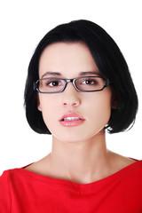 Portrait of young woman in eyewear