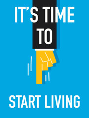 Word START LIVING