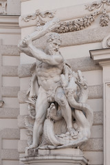 Herakelgruppe an der Hofburgseite
