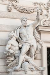 Heraklesgruppen an der Hofburgseite Michaelertrakt