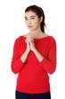 Portrait of a woman praying
