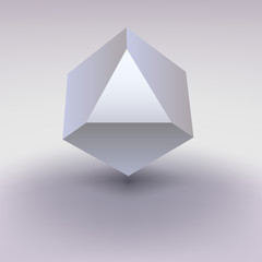 Cube with cropped center, place for text.