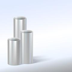Steel pipes, vector illustration.