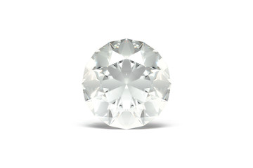 Diamond, White Background