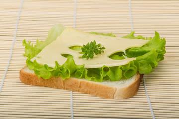 Maasdam cheese sandwich