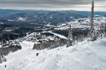 Ski resort Sheregesh, Kemerovo region, Russia.