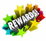 Rewards 3d Word Stars Prize Incentive Bonus Enticement poster