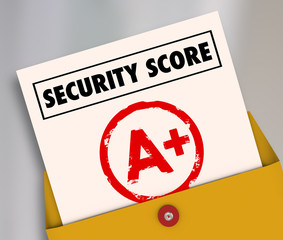 Security Score Report Card A Plus Great Secure Safety Rating