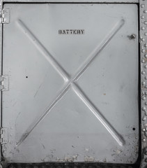 Old metal batterry compartment
