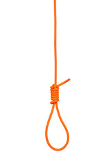 Hanging noose of rope