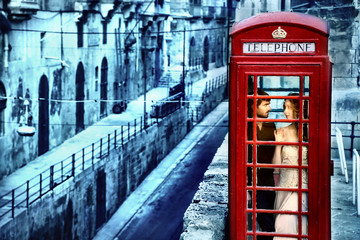 In love in the phone box