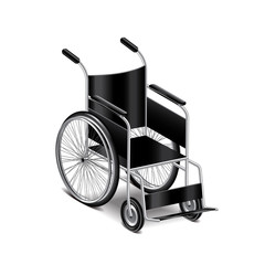 Wheelchair isolated on white vector