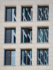 Detail of the facade of a business building in Frankfurt, German