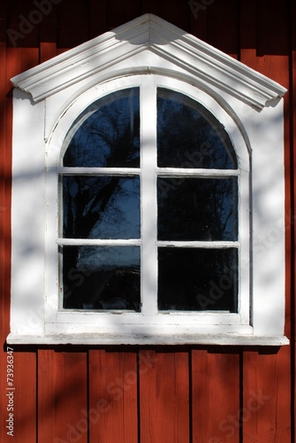 canvas print picture Holzfenster