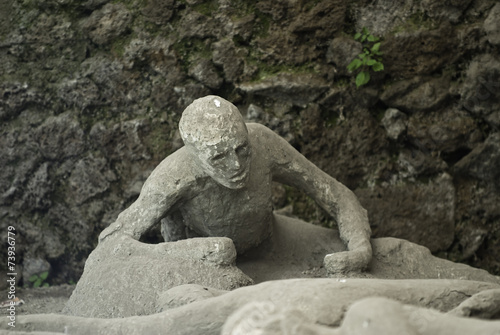 eruption victim of Vesuvius in Pompeii - 73936779
