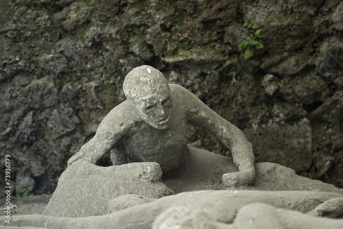 Leinwanddruck Bild eruption victim of Vesuvius in Pompeii