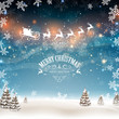 Vector Illustration of a Christmas Greeting Card