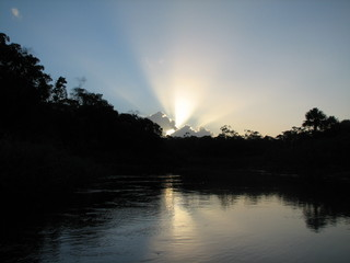 Pôr do sol na Amazônia