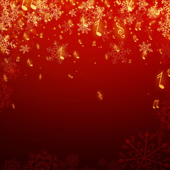 Vector Illustration of a Christmas Music Background