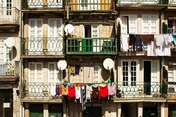 The balconies of Porto, Portugal.
