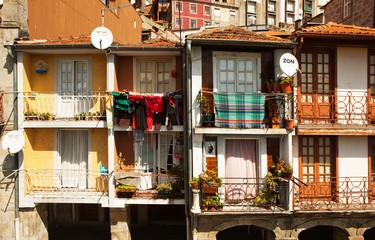 The balconies of Porto, Portugal.