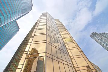 Modern skyscrapers in the Hong Kong