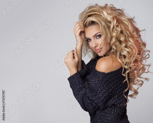 Portrait of sensual blonde woman