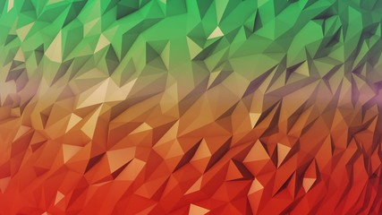 Abstract low poly moving background 40s loop green and red