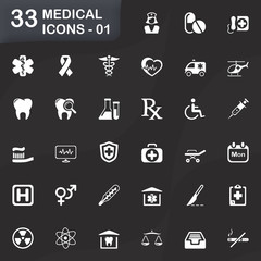 33 medical icons - 01