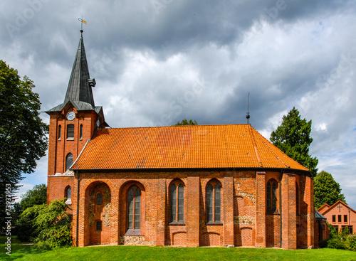 canvas print picture St.-Mauritius-Kirche in Altenmedingen