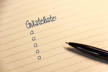 Notiz mit Mitteilung Checkliste