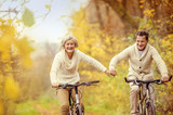 Fototapety Active seniors riding bike
