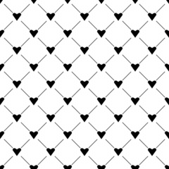 Seamless simple pattern with hearts