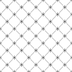 Seamless simple pattern with snowflakes