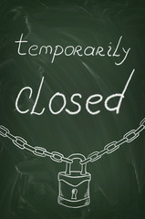 Temporarily closed on blackboard