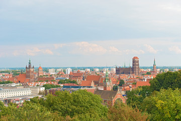 Panoramic view at Gdansk,  Poland