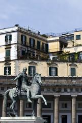 Naples, equestrian statue