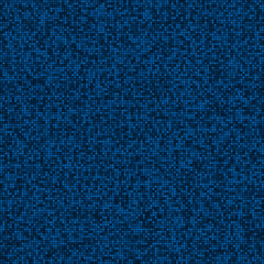 Abstract digital blue pixels seamless pattern background