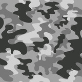 Seamless vector square camouflage pattern grey