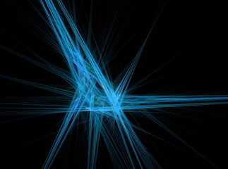 Blue lines abstract fractal effect light background