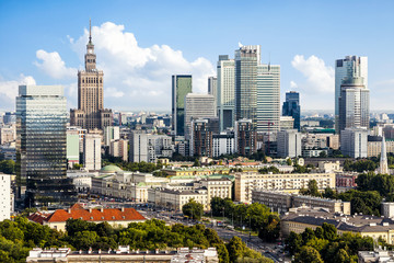 Warsaw downtown
