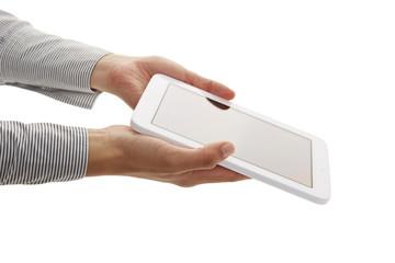 kleines Tablet halten 2