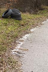 Tires Dumped , Environmental Damage, Pollution