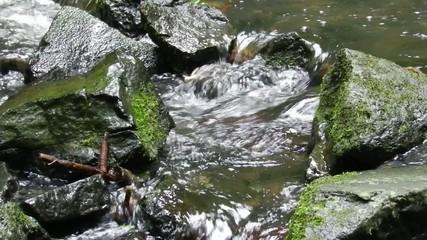 water flow through stones