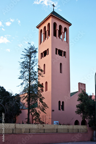 canvas print picture Christliche Kirche in Marrakesch 614