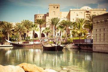 Dubai, park with the lake