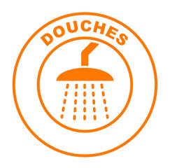 douches sur bouton web rond orange