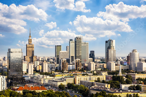 Fototapeta Warsaw business district